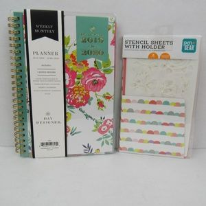 NWT Student Weekly/Monthly planner w/stencils